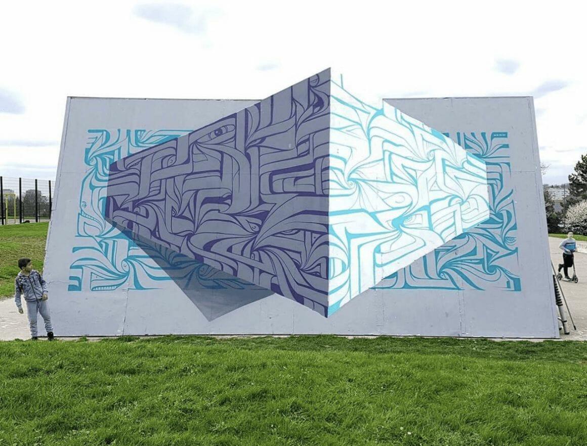 Peinture murale illusion Astro