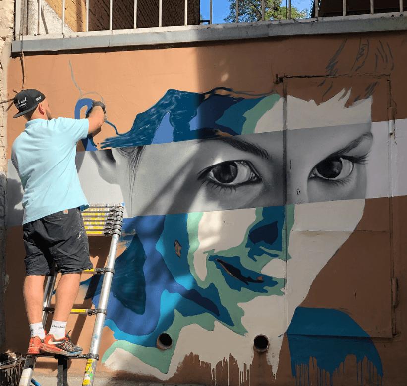 Sasha Korban street art made in Kiev