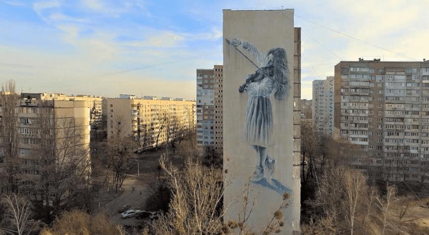 Sasha Korban murale géante