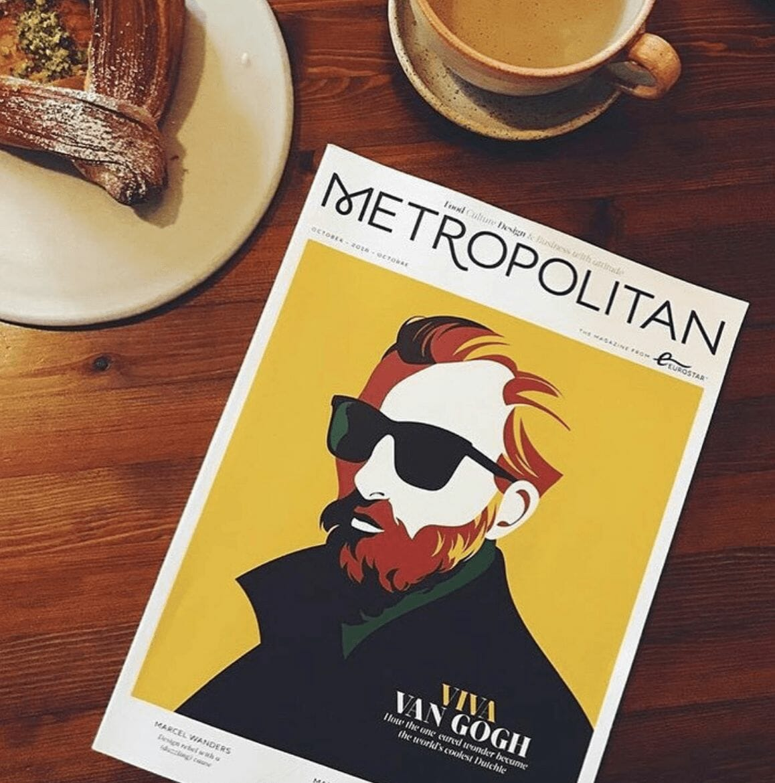 Viva Van Gogh, couverture du Metropolitan par Malika Favre