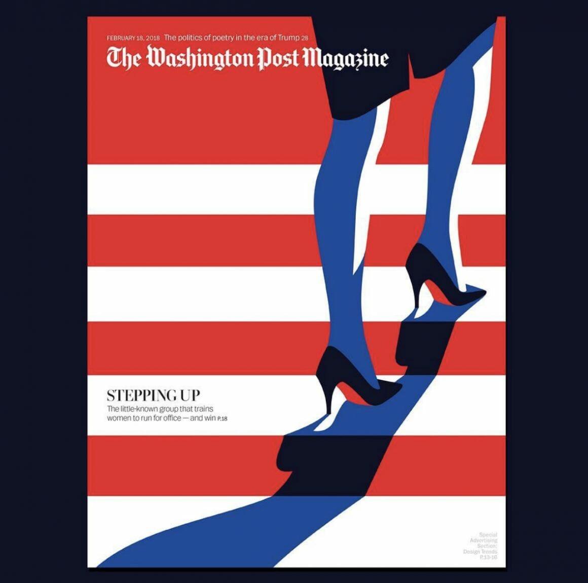 Couverture du Washington Post par Malika Favre