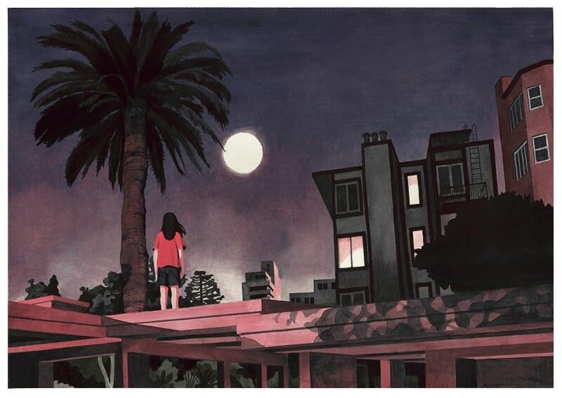 illustration nocturne par Antoine Maillard