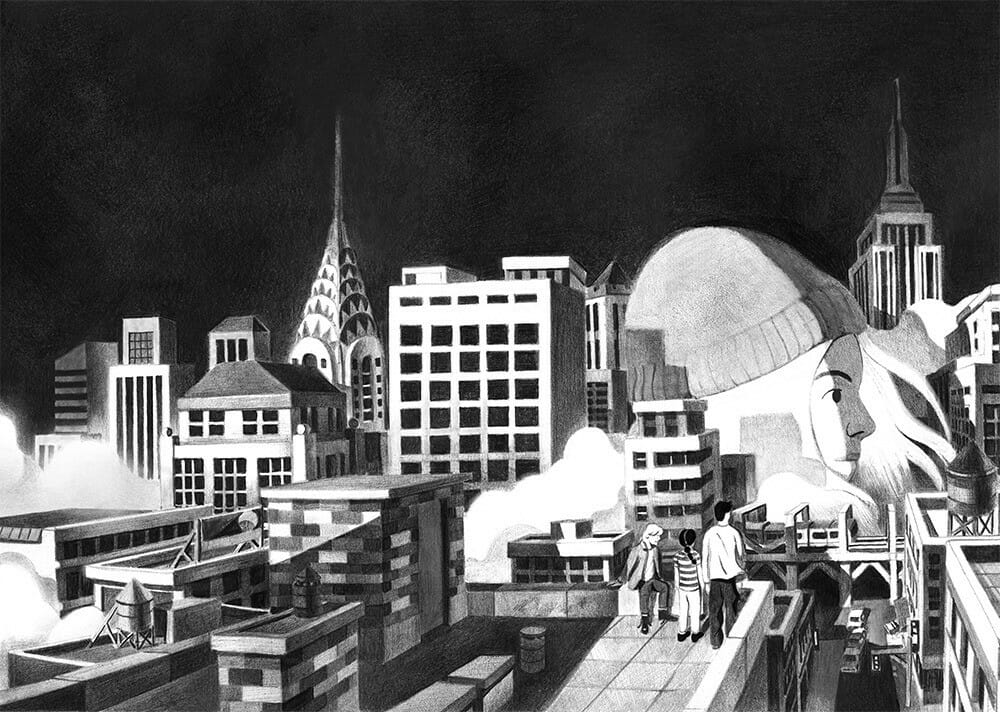 illustrations en noir et blanc