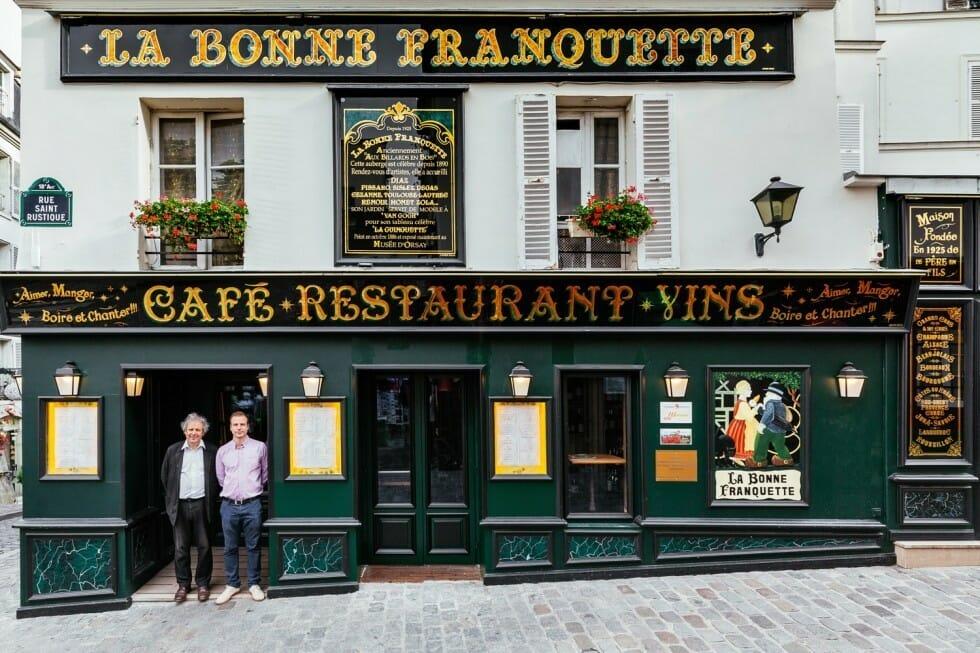 café restaurant typiquement parisien
