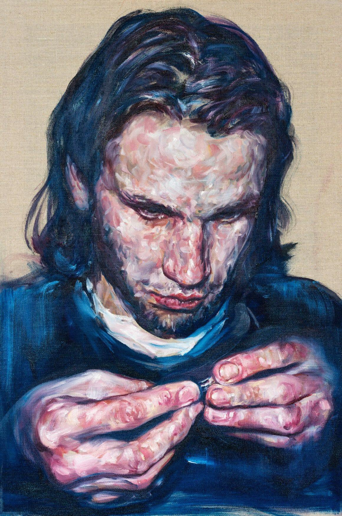 portrait d'un homme peint par Kim Hyunji