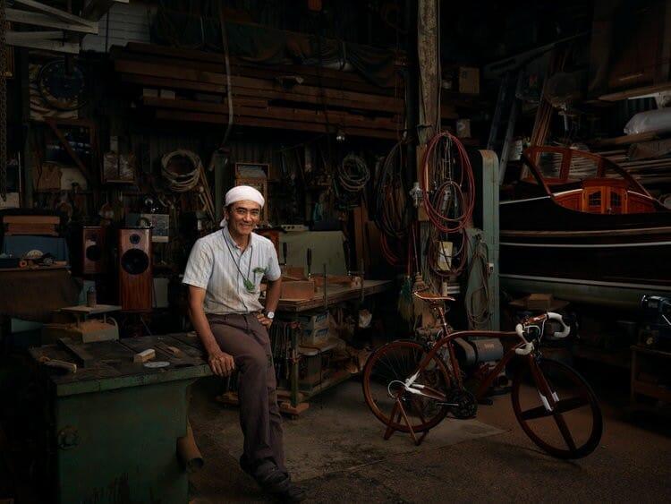 Portrait de Sueshiro Sano, un fabricant de bateau japonais, photographié par Roman Jehanno