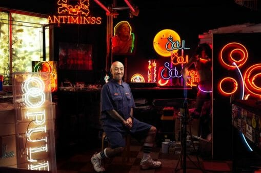 Portrait de Hidenoby Takahashi, un artiste japonais photographié par Roman Jehanno