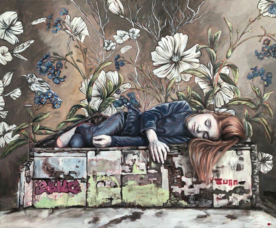 Peinture murale de street art réalisée par Lula Goce