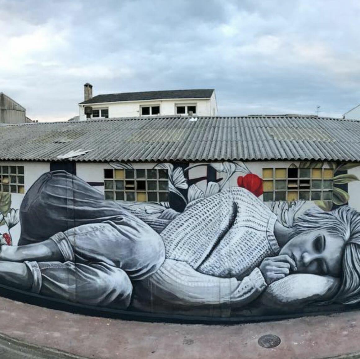Peinture murale réalisée par Lula Goce