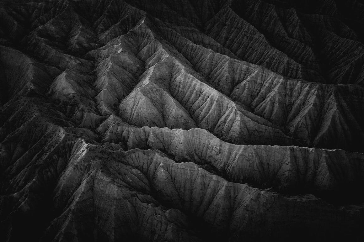 photo aérienne prise par le photographe Albert Dros