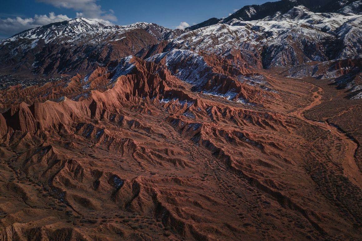 photo aérienne prise par Albert Dros