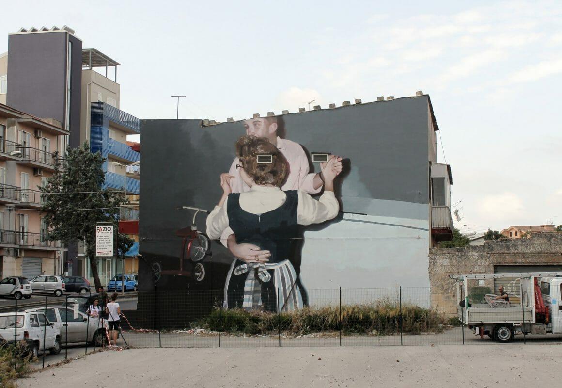 peinture murale réalisée par Mohamed L'Ghacham