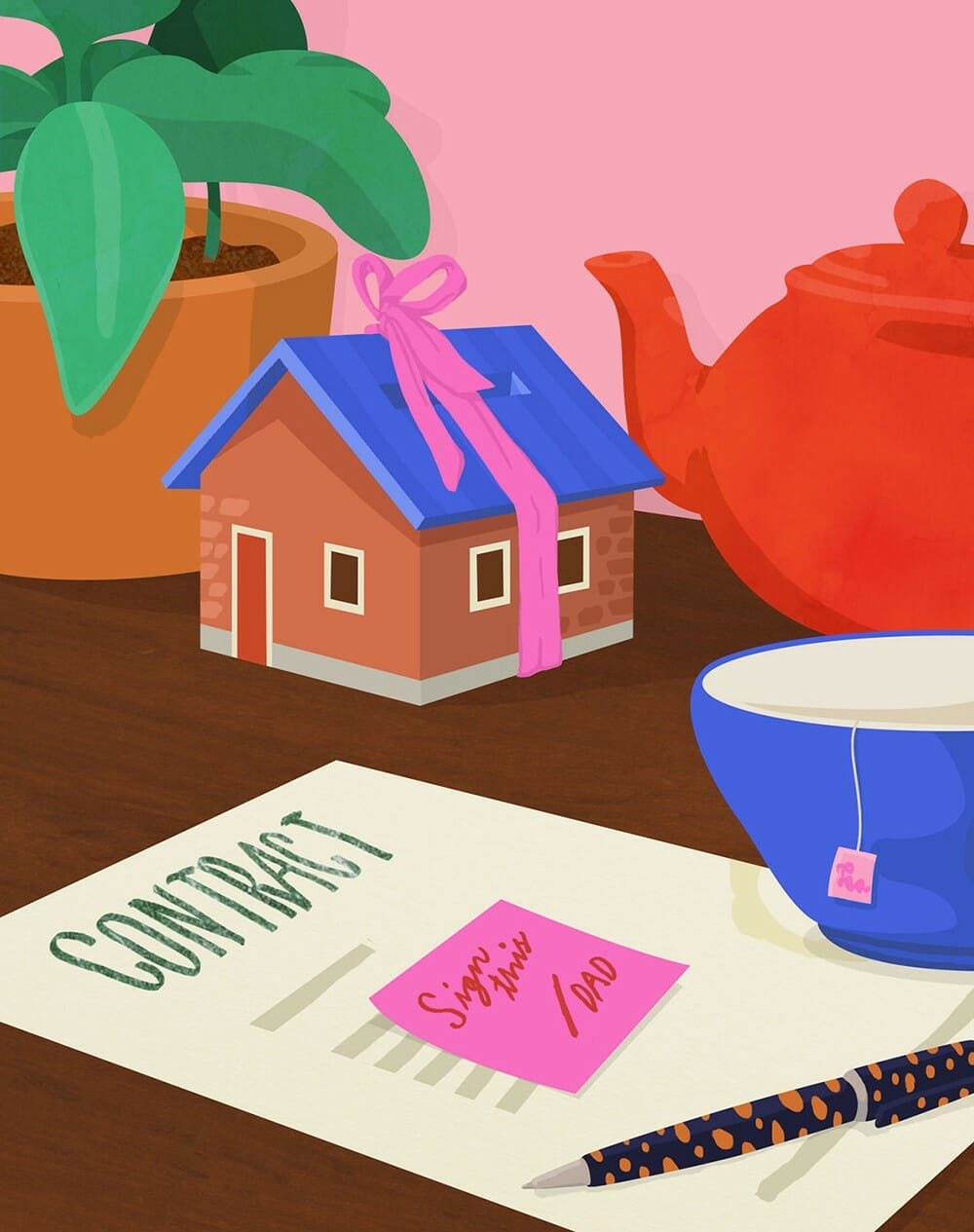 Illustration d'un contrat réalisée par Petra Eriksson