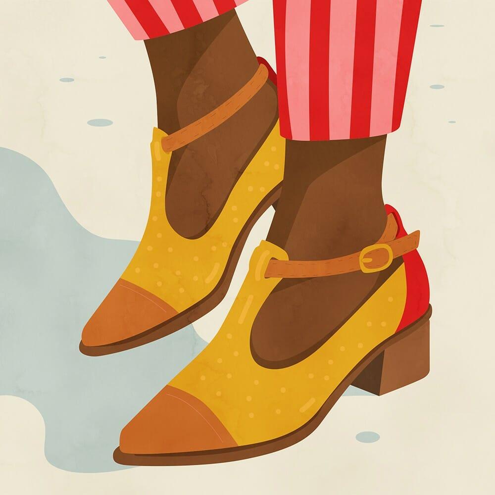 Illustration de chaussures réalisée par Petra Eriksson