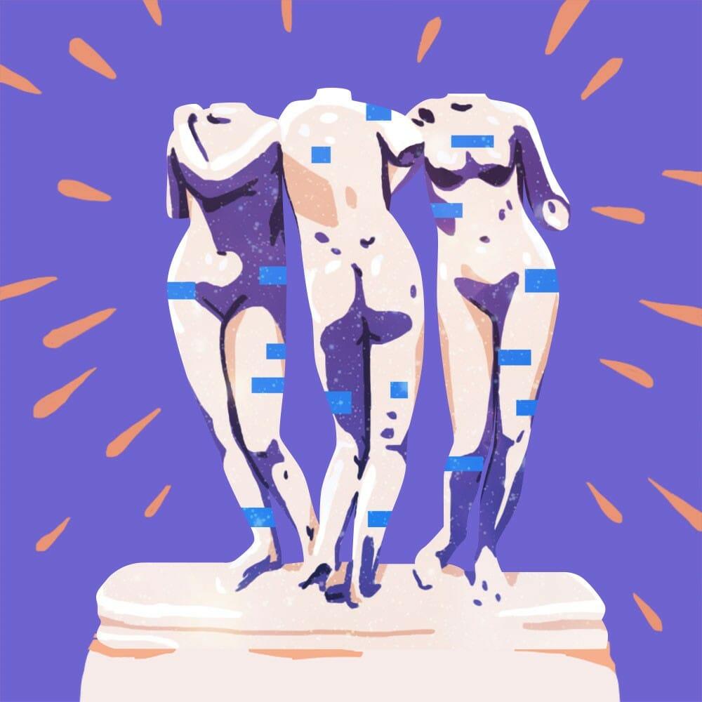 Illustration d'une statue réalisée par Petra Eriksson