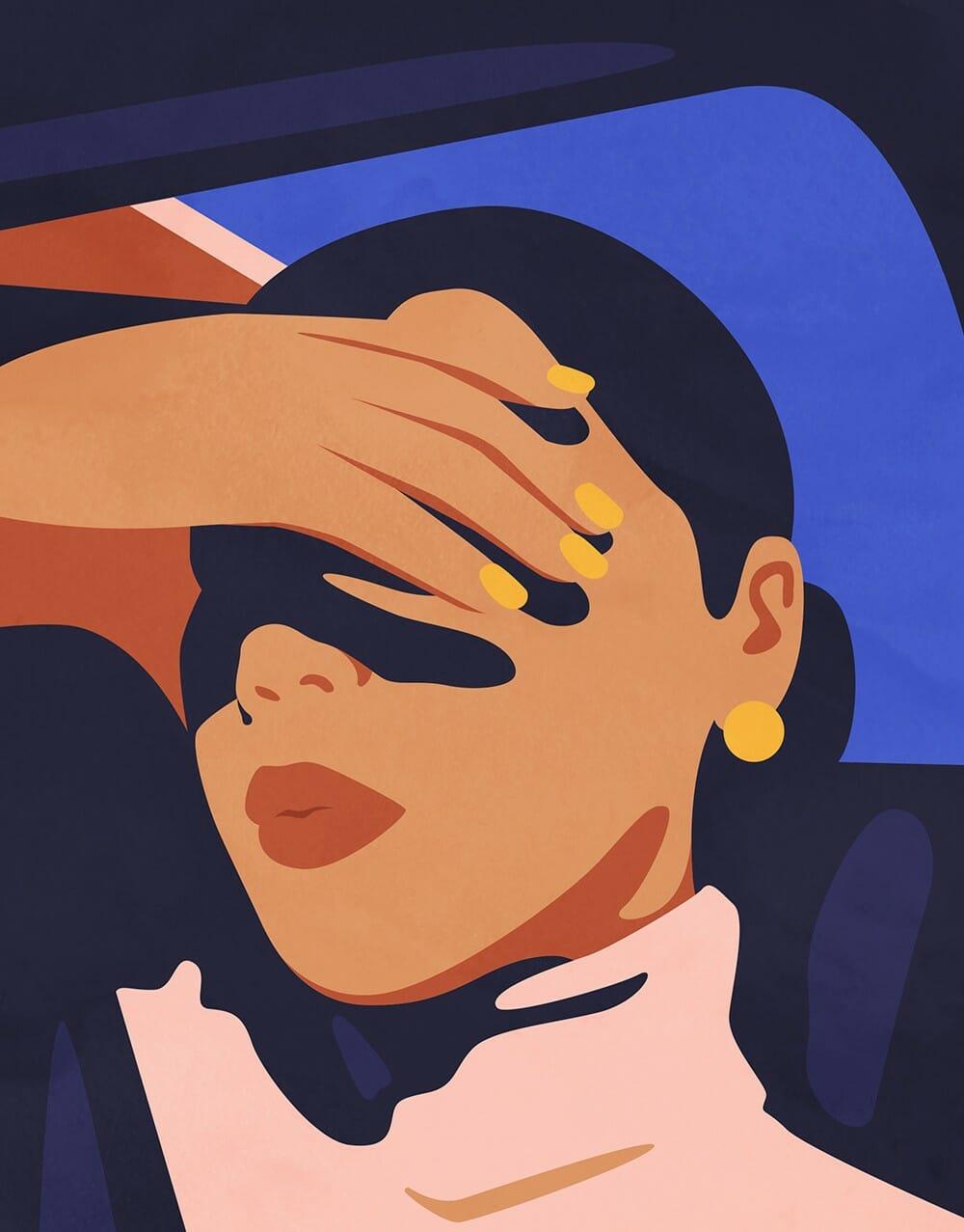 Illustration d'un portrait réalisée par Petra Eriksson