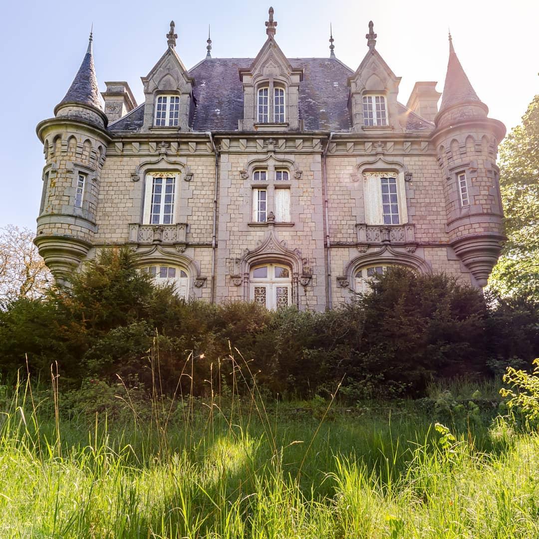 photo d'un château abandonné réalisée