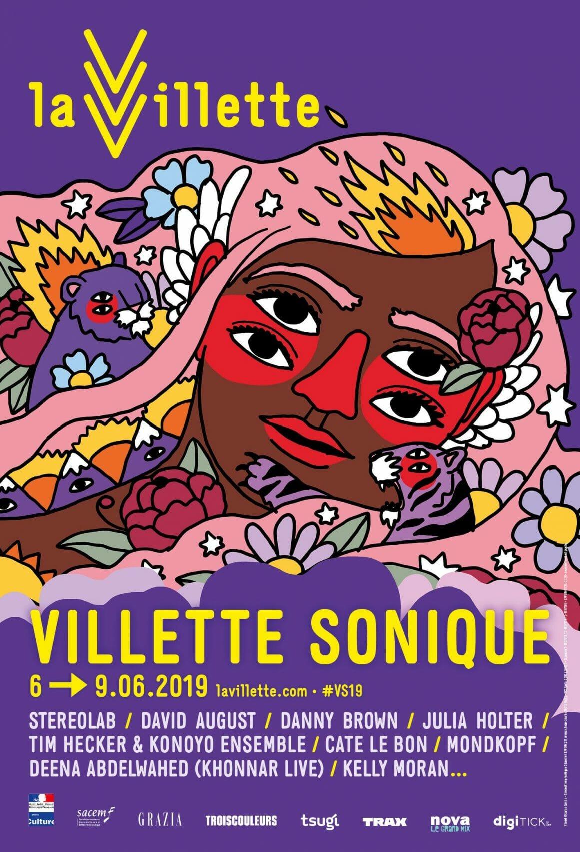 affiche du Villette Sonique 2019