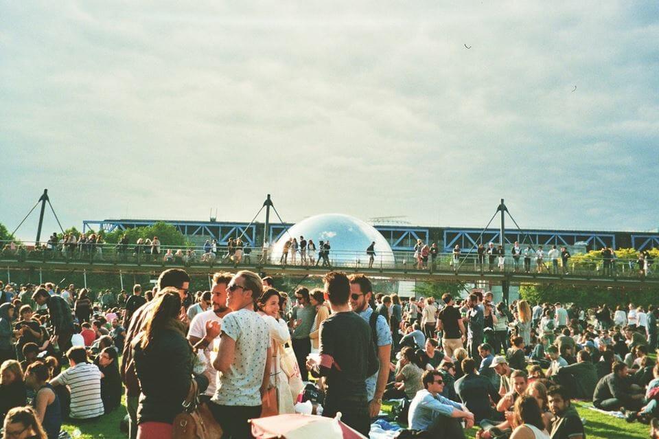 photo prise durant le festival Villette Sonique
