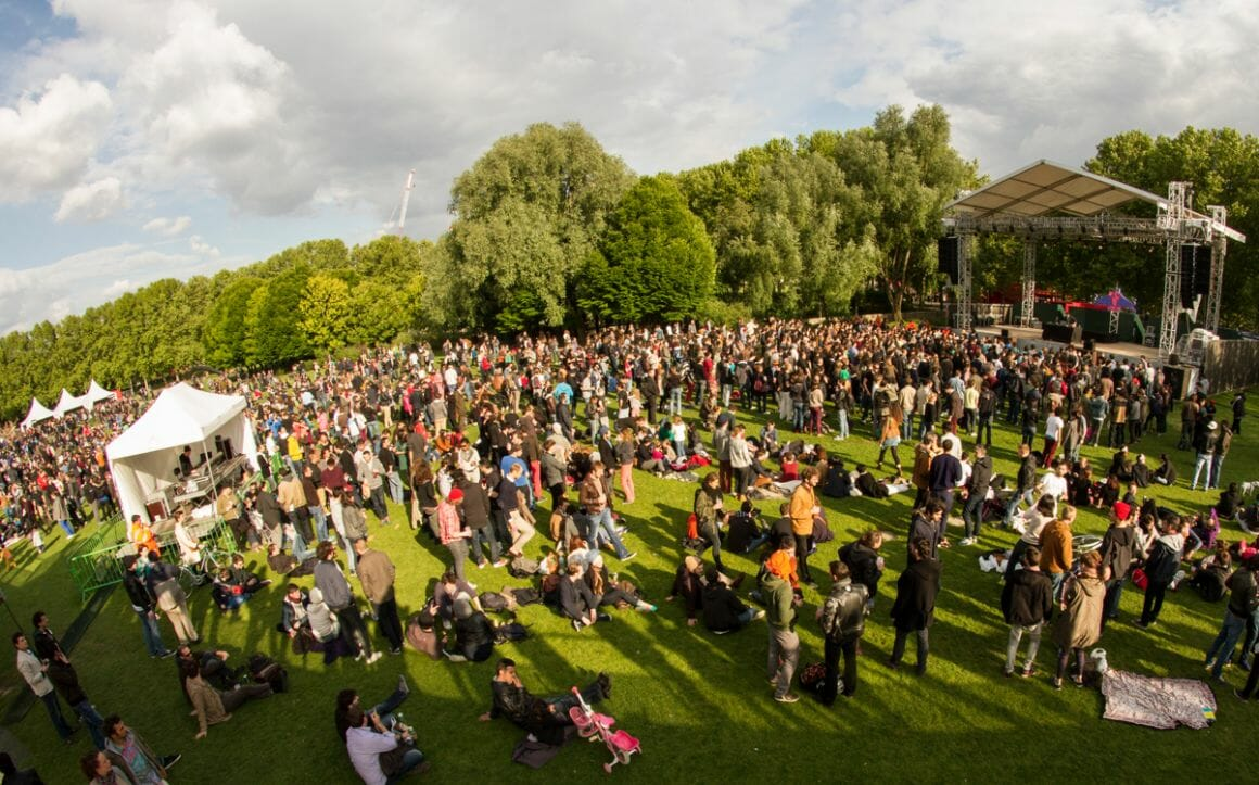 photo d'un concert durant le festival Villette Sonique