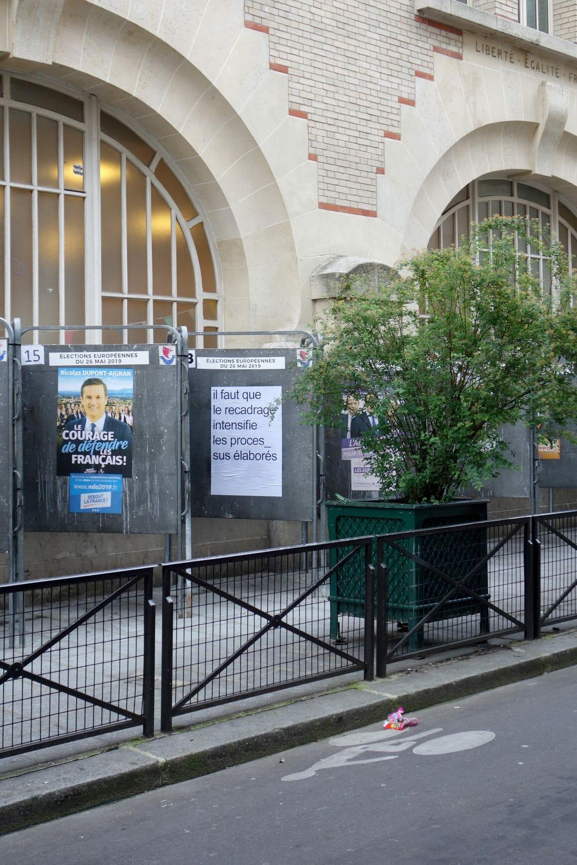 Affiche Guillemet et Lacotte panneaux de campagne