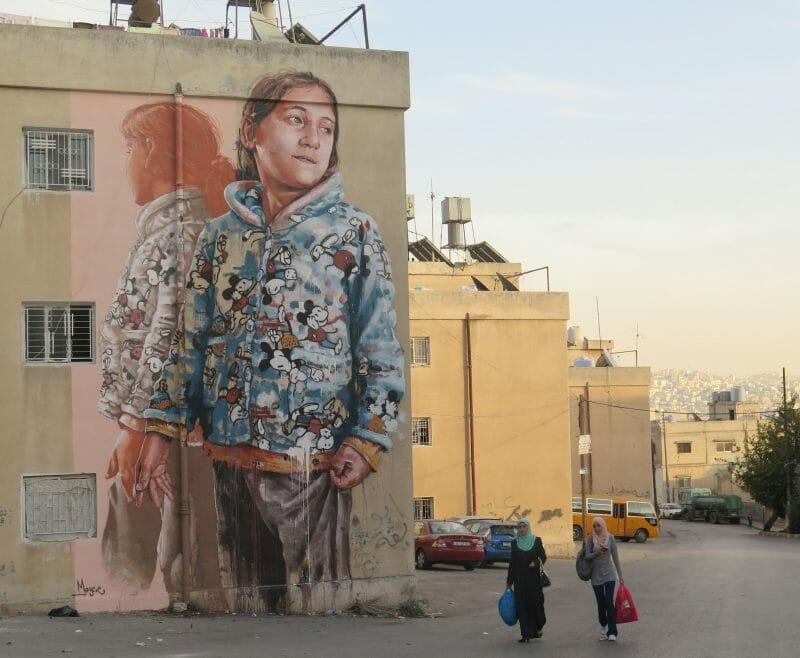 Fintan Magee - murale en jordanie