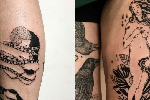 Les tatouages modernes et poétiques de Jeanne.lmb 3