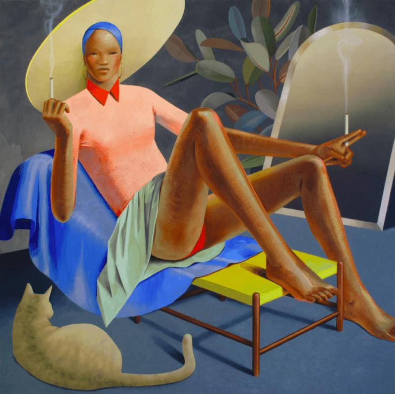 Robin F Williams peinture de femme