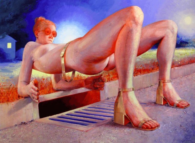 femme nue peinture par Robin F Williams 2