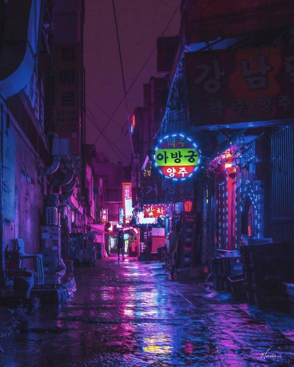 Photographie réalisée par Noé Alonzo illustrant un quartier peu populaire de Séoul
