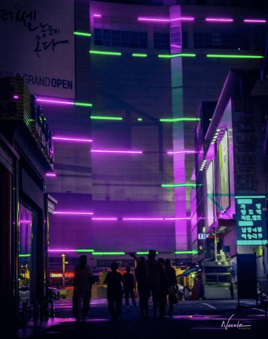 Photographie réalisée par Noé Alonzo illustrant un quartier populaire de Séoul