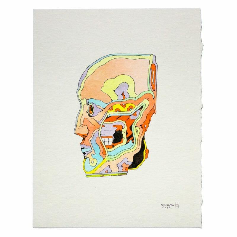 Smithe - slip, watercolor on paper / 2017