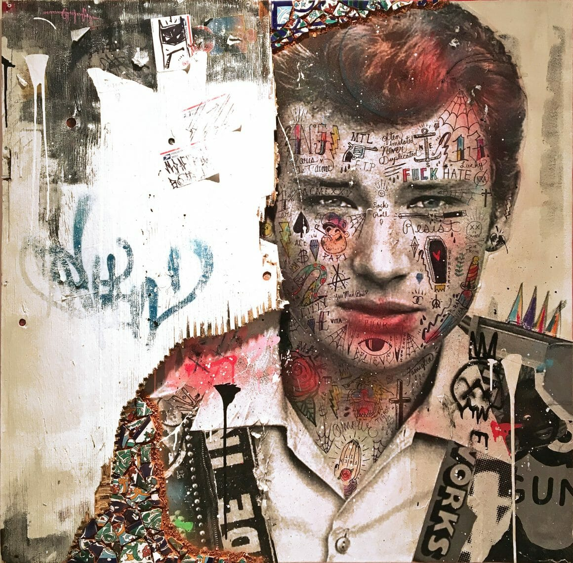 street art Johnny Hallyday