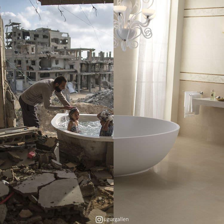 Ugur Gallenkus - salle de bain à Israel
