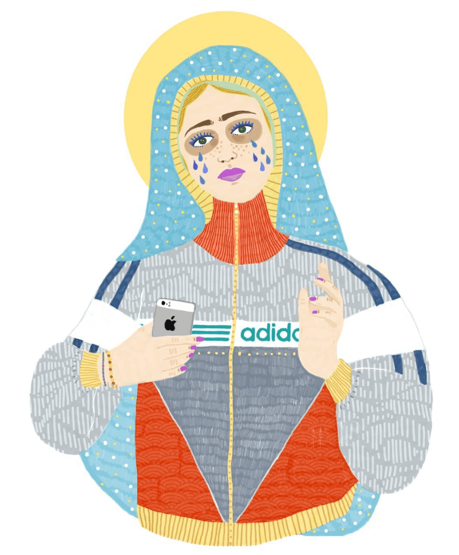 Jeanne.lmb vierge marie moderne