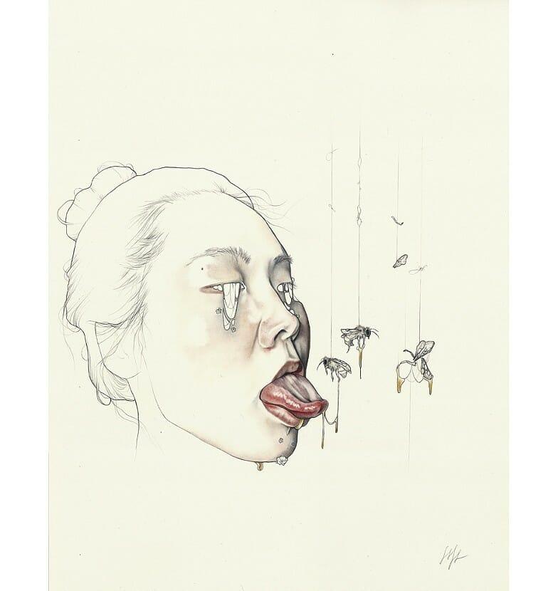 Dessin d'abeilles