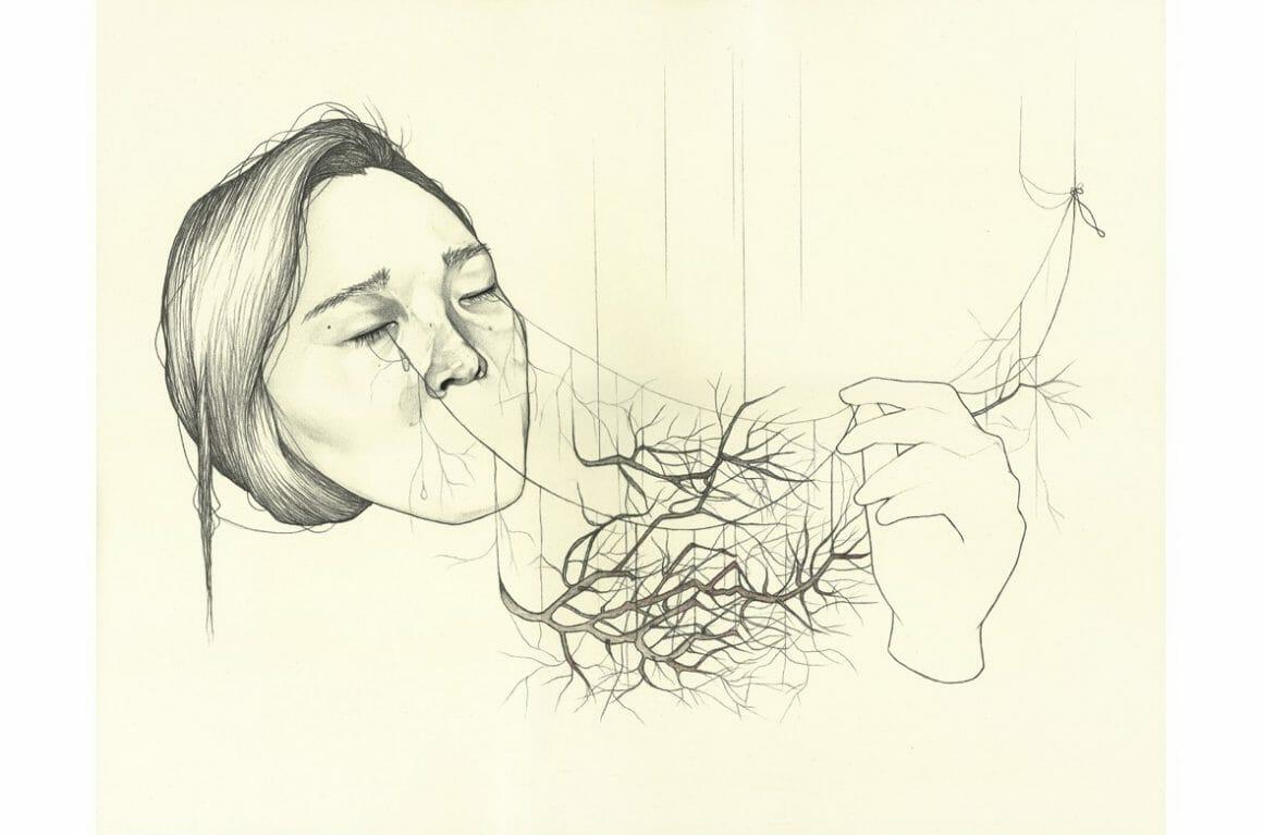 dessin par Haejung Lee branches