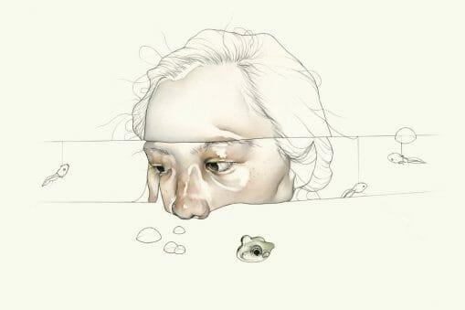 Haejung Lee visage tétares et grenouille