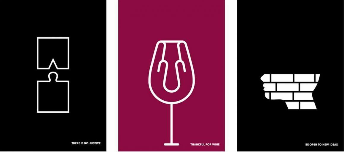 merci le vin poster