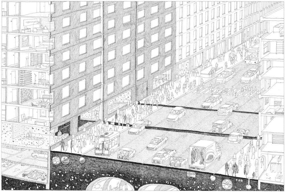 coupe d'une ville