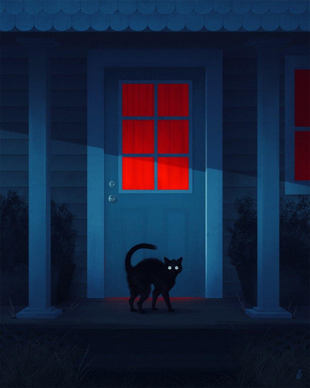 chat-nocturne-dessin-par-Jenna-Barton