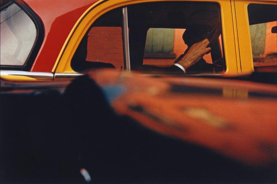 Saul Leiter et le taxi