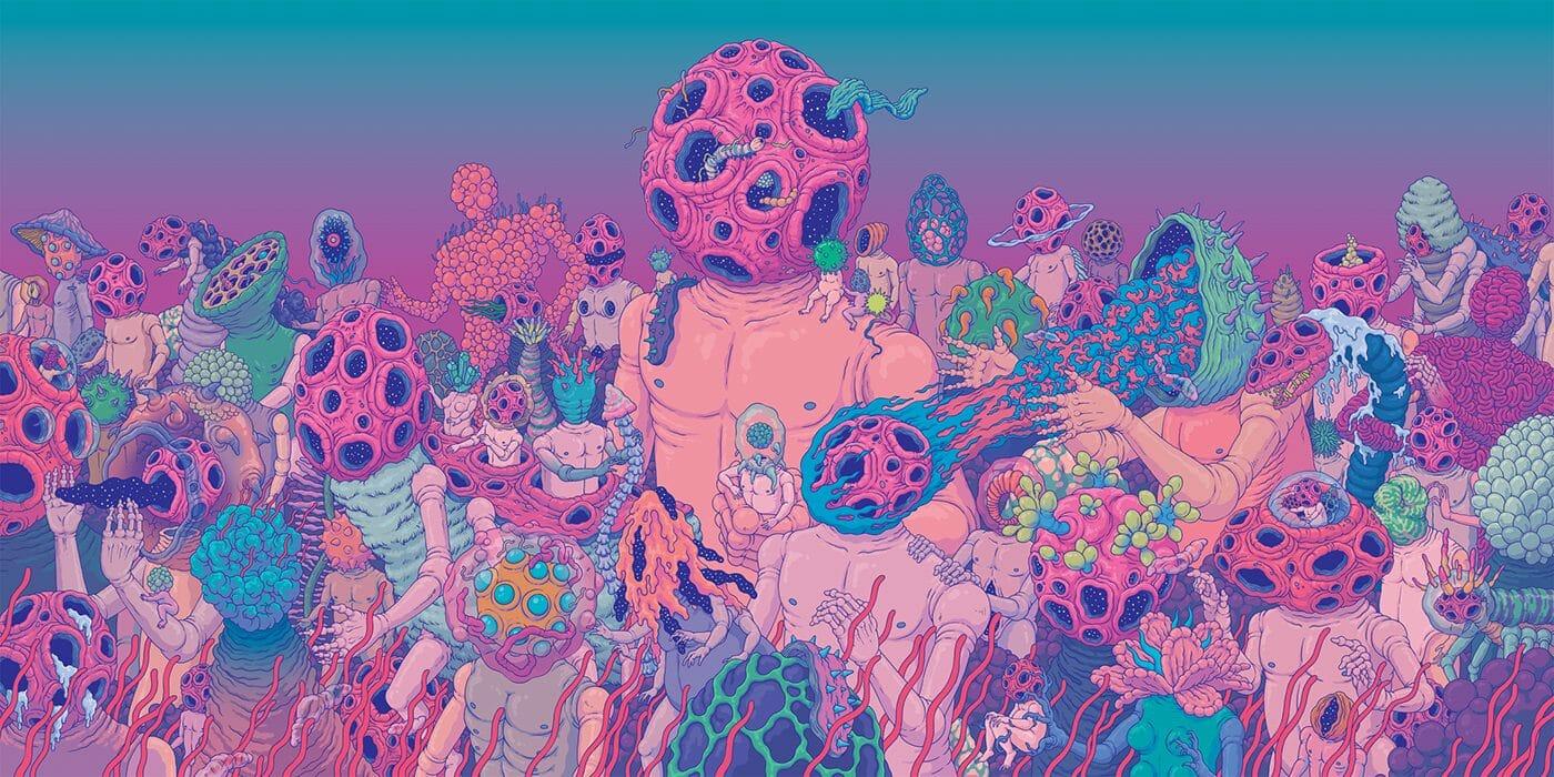 Les mondes extraterrestres et psychédéliques de l'artiste coréen, Sangho Bang 1