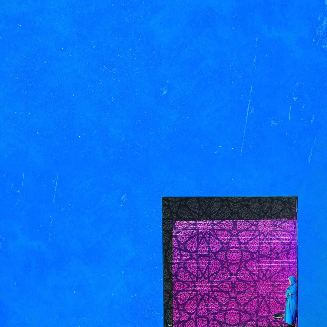 Monochrome de bleu et zelliges
