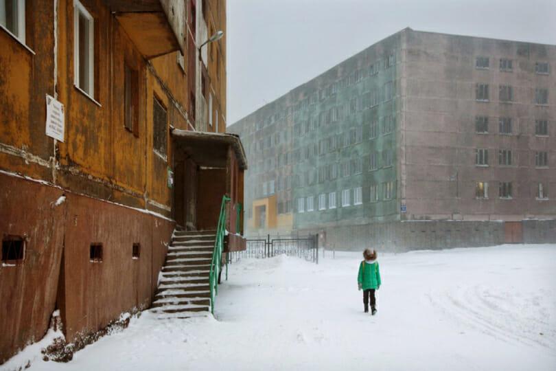 """Christophe Jacrot, photographie issue du livre d'art """"Neiges"""", Sibérie."""