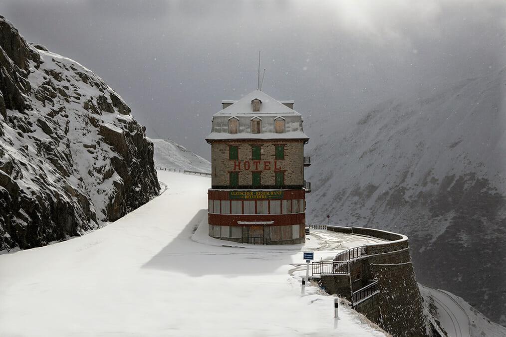 hotel à la wes anderson route de montagne