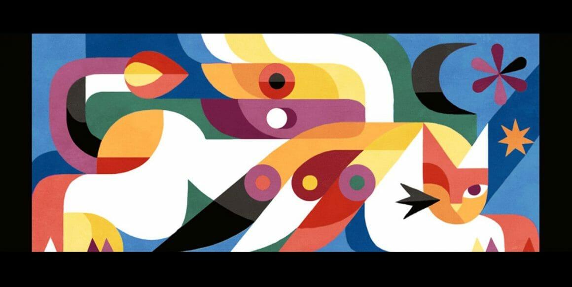 Gol3m, Une panthère très stylisée et composite, inspiration cubiste.