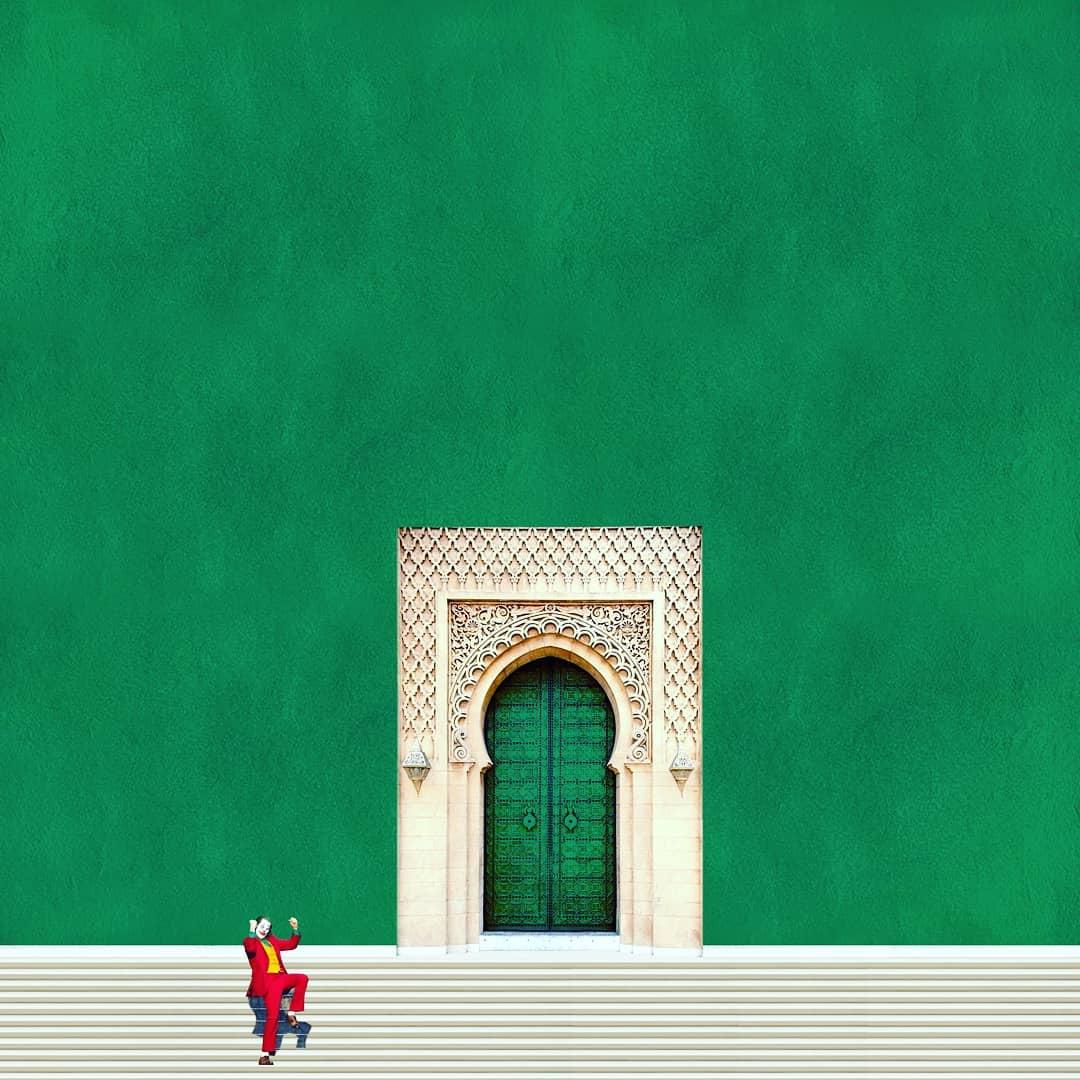 Monochrome de vert, escalier, porte traditionnelle marocaine, et la danse du joker actualité cinématographique de ces dernières semaines