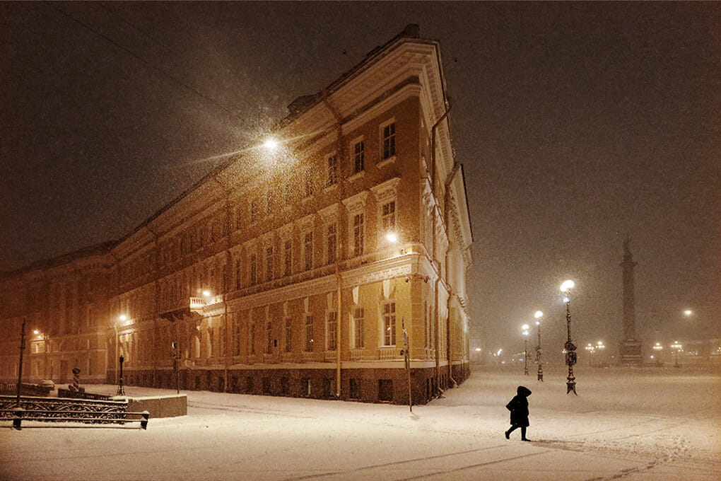 ville sous la neige