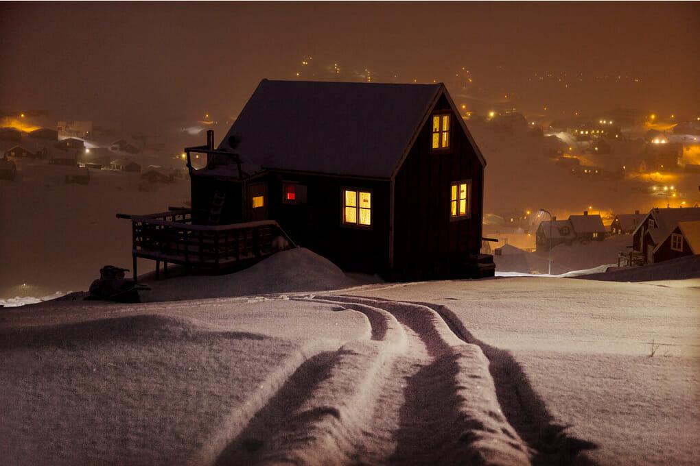 un chalter la nuit